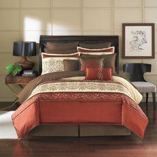 Petra 12-Piece Bedding Superset bed sets, color schemes, color combos, earth tones, new bedroom, bedroom bedding, master bedrooms, bed skirts, bedding sets