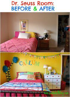 Dr Seuss Bedroom Before & After