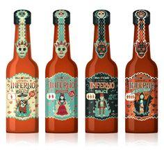 Inferno Sauce   #packaging #bottledesign