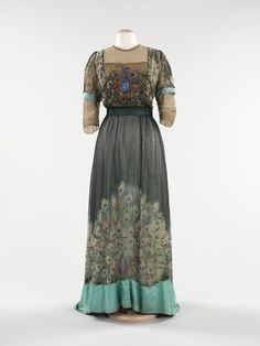 evening dresses, peacock dress, inspir cloth, period inspir, peacock garden, peacock design