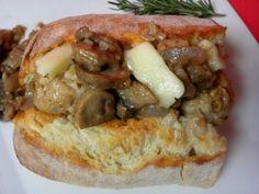 Mushroom Meatball Sub With Brie And Mushroom Red Wine Sauce   Mushroom Info