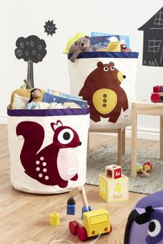 3 Sprouts Storage Bin, Berry