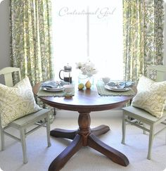 I've mentioned before, we have a little guest studio above our garage that we've rented out in the past, but mostly use for guests, especially this time of year. A few months ago I refinished the kitchen cabinets, and last weekend I thought it time to refinish the old Pottery Barn pedestal table that sits …