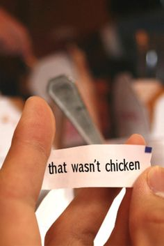 Not Chicken? Lol love this!!!!