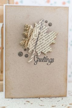 butterfli, leav, book pages, card, book paper