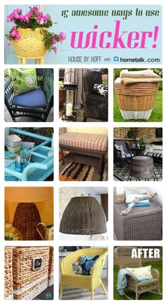 If you like wicker, you need to see these 15 awesome ways to use wicker!