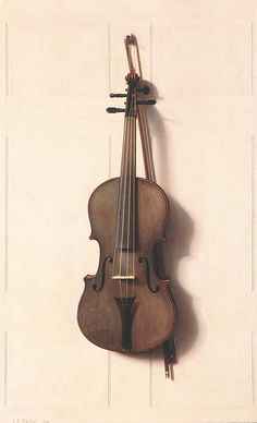 Violin and Bow 1889.  Jefferson D. Chalfant
