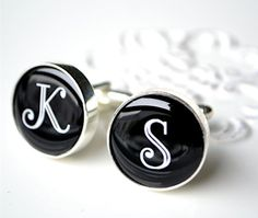 Initial cufflinks  personalized keepsake gift for by whitetruffle, $42.00