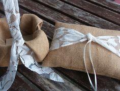 Ring Bearer Pillow and  Flower Girl Basket Set  in by WeddingLab, £32.34
