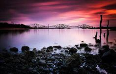 Forth raiaway bridge & forth road bridge