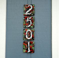 Mosaic House Numbers mosaic hous, hous number, house numbers, mosaic art