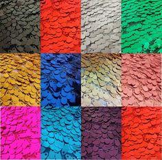 Diff color of sequin for bolero?