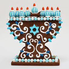 Hanukkah Activity: Mini Gingerbread Menorah Decorating Kit (Unassembled)