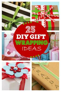 Click Pic for 25 Creative DIY Gift Wrapping Ideas!