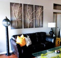 decor, idea, stick art, trees, diy wall art, diy project, tree art, tree branches, twig art