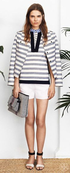 Double the impact with layered lines | Tory Burch Spring 2014