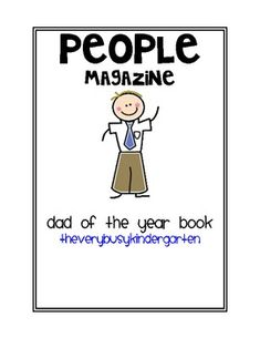 A Father's Day keepsake.  A booklet for children to illustrate and fill in thoughts about their dads.  ...