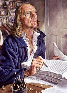 Michael Taylor, Sir John Kenneth Tavener, 2001, National Portrait Gallery