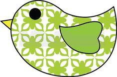 Applique Template - Bird