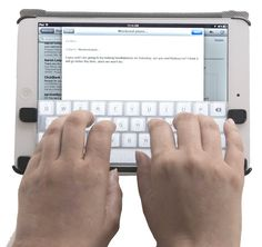 The handy Touchfire invisible keyboard making typing on your iPad much easier.