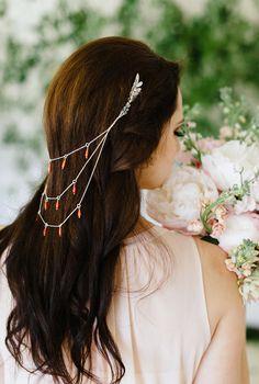 boho hair accessory, photo by Debbie Lourens http://ruffledblog.com/nile-inspired-wedding-ideas #weddinghair #hairaccessories