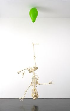 Tom Friedman - 'Untitled (Green Balloon with Skeleton)'