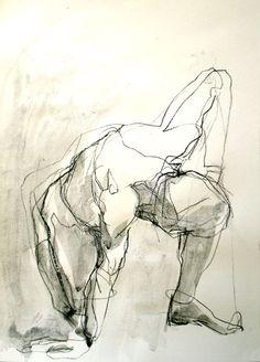 Art - Drawing - Left toright....life drawing -      by Dee Berridge