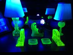 Vaseline and Lamps with Black Light