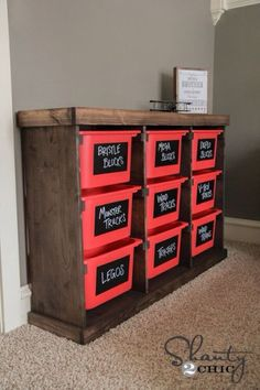 DIY:: Storage Solution !   (Using a few cheap Ikea tubs and a few boards) by Shanty2Chic