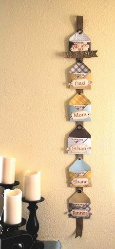 Thankful Wall Hanging - October 2103 Stampin' Up! Artisan Design Team - Jeanna Bohanon
