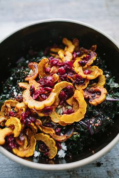 Harvest Salad w/Squash and Kale / A Year in Food #recipe