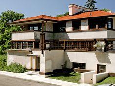 Westcott House. Prairie Style. Springfield Ohio. 1908. Frank Lloyd Wright