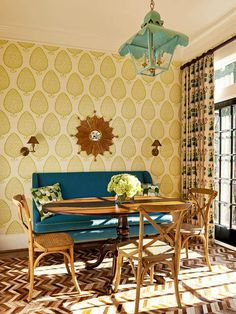 breakfast room designed by Holly Hollingsworth Phillips of The English Room