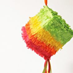 DIY mini piñatas made from tissue boxes!