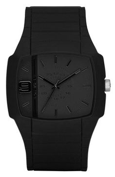 DIESEL® 'Trojan' Silicone Strap Watch, 48mm x 43mm available at #Nordstrom