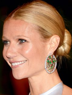Gwyneth Paltrow dons Anna Hu earrings