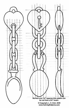 Free Wood-Burning Patterns | Wood Carving Beginner's Project, The Welsh Love Spoon by L. S. Irish pattern, spoon, woodburn