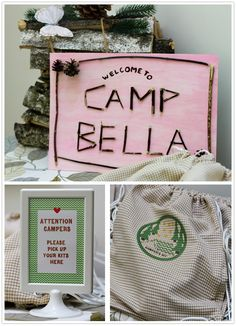 Paper and Party Love: Indoor Camping Party Part 2
