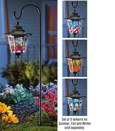 Seasonal Solar Garden Lantern ---like this a lot!! :)