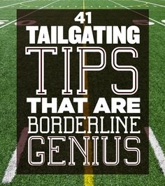 41 Tailgating Tips That Are Borderline Genius  --This is one of the smartest set of ideas I've seen, and would work, not just for a regular pre-game tailgate, but for all of the LaCrosse and Soccer tournaments as well.