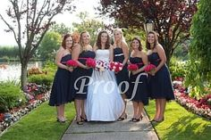 Another navy and fuschia wedding