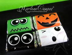 PRINTABLE Halloween Mini Candy Bar Wrappers  by PaperArtbyMC, $5.50