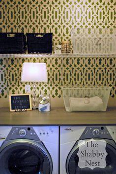 The Shabby Nest: Laundry Room Reveal.