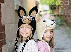 Handmade Crochet Chihuahua Puppy Dog Animal Hat for boys and girls of all ages www.irarott.com