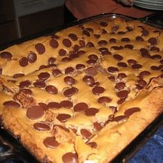 chocolate chips, butter cake, chip ooey, chocol chip