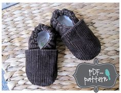 Cord shoes for a boy. Sewing pattern by Twirly Bird Baby on Etsy