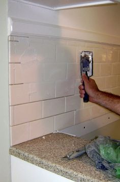 If you've got a steady hand, a few easy-to-find supplies and patience, you can install a tile backsplash in a kitchen or bathroom