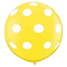 "36"" Round Polka Dot Balloon - Yellow"