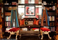 Plaza style: Tommy and Dee Hilfiger have lived in the two-floor condo on the highest floors of the iconic hotel for four years. The luxe living space features famous portraits, including Elizabeth Taylor by Andy Warhol