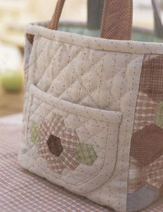 tote with hexagons